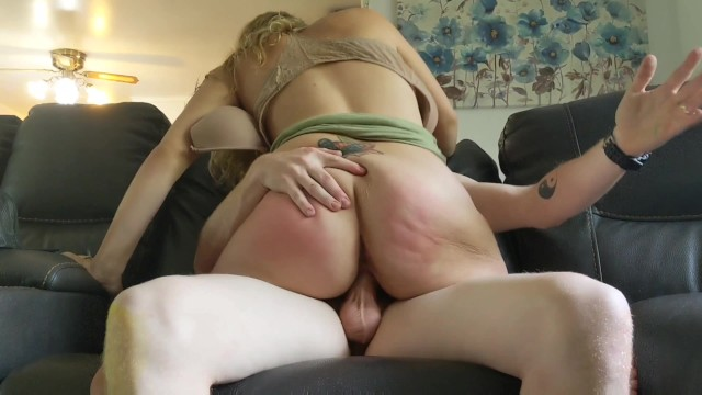 ass spanked while riding dick